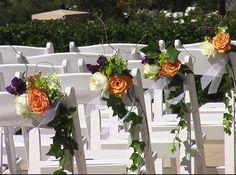 katherine bergman aisle flowers for vineyard wedding
