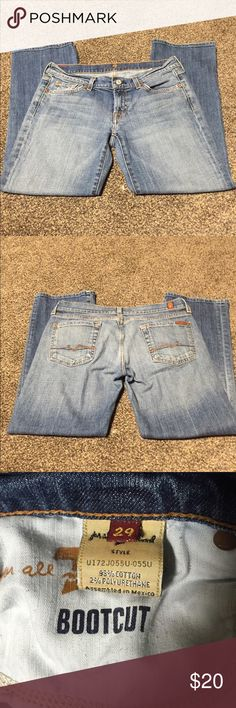 """7 for all Mankind EUC no rips or stains. 26"""" Inseam. Bootcut. 7 for all Mankind Jeans Ankle & Cropped"""