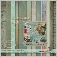art journal kit in masculine colors by Aria @Digitals