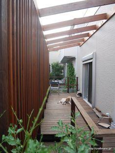 ウッドデッキパーゴラに木製格子をDIY。 | | カイテキ!やっちゃえDIY!! Deck Design, House Design, Fence Screening, Wood Architecture, Backyard Patio Designs, Outdoor Sheds, Japanese House, Home And Garden, Outdoor Decor