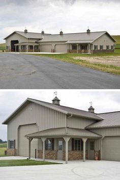 Metal shop houses can be customized even after they are built. If you choose to expand your space by making an addition, or would like to restructure the interior, the project will be completed with ease. Building A Shed Roof, Metal Shop Building, Steel Building Homes, House Building, Steel Homes, Morton Building, Metal Pole Barns, Metal Barn Homes, Pole Barn Homes
