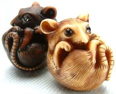 Ivory Mouse netsuke by Adam Binder