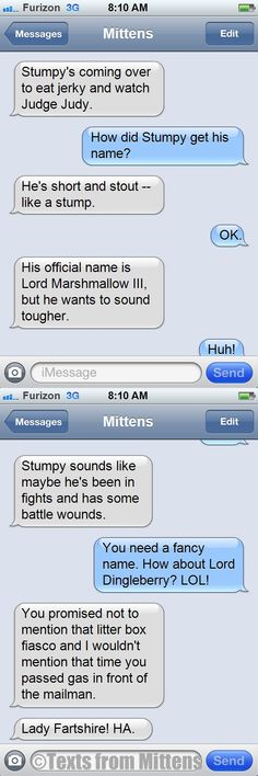 NEW Texts from Mittens: The Stumpy's Name Edition  http://textsfrommittens.com/
