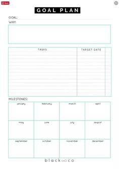 A planner to help you make your goal plan. As simple as possible. Make your plan, work on it consistently and you will be Printable Goal Sheets to Help You Stay on Track This Year Goals Planner, Planner Pages, Life Planner, Weekly Planner, Work Planner, College Planner, College Tips, Goals Printable, Printable Planner