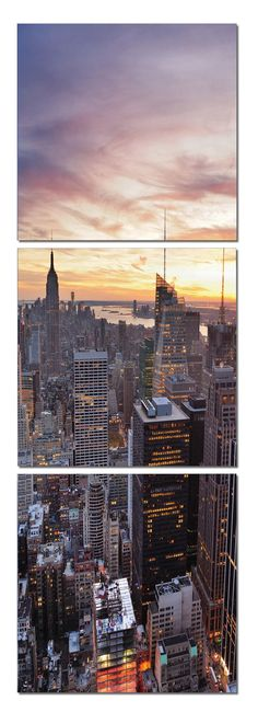 Nyc At sunset Vertical | for another print