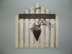 Love my picket fence I made. :)