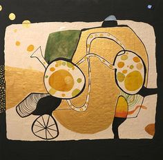 Máquina de la felicidad (con monstruos) | Laia Bedós Bonaterra. Artista plástica muestra y pone en venta sus trabajos; puedes comprar pintura artística y creativa, cuadros, encargos de pintura mural.