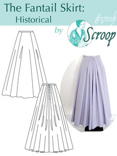 The Scroop Fantail Skirt: Historical (1890-1910)