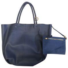4711da683207c blue Plain Leather MAJE Handbag - Vestiaire Collective Taschen Damen
