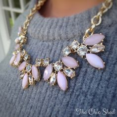 Pink Spring Statement Necklace Beautiful! Pink acrylic with gold tone chain. Very nice quality. NWT RETAIL.The Chic Shed; A Current and Classic Fashion Curation.  10% OFF BUNDLES I ❤️ THE OFFER BUTTON ❌NO PP, TRADES, HOLDS❌  15% OFF RETURN BUYER BUNDLES The Chic Shed Jewelry Necklaces