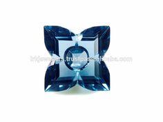 Natural Blue Topaz Fancy Flower Cut Loose Gemstone
