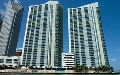One Miami Condo consists of two buildings, east and west, and is located right on the waterfront in Downtown Miami, at the gateway of where Downtown meets the Miami River and Biscayne Bay. This landmark location commands panoramic views of Biscayne Bay, the Port of Miami, Brickell Avenue, Downtown Miami, Key Biscayne, and South Beach.