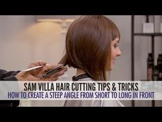 How To Cut Hair Into a Steep Angle and Maintain Length In The Front | Sam Villa Blog