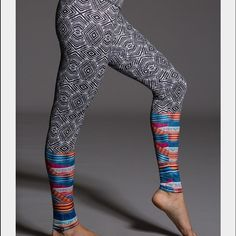 Onzie tribal print leggings BRAND NEW! Onzie Pants Ankle & Cropped