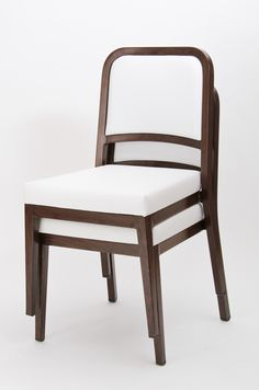 Woodlook chairs from Sandler Seating: amazing wood effect on a durable aluminum frame! -  #SandlerSeating #Furniture #Design #Seating #Woodlook