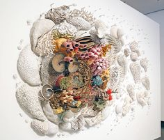 New Colorful Ceramic Coral Reefs by Courtney Mattison  American artist Courtney Mattison (also attorney in the environment field) whose we talked about already on Fubiz continues to create amazing life-sized ceramic coral reefs that she hangs on walls. Through her work Our Changing Seas III she depicts this aquatic world with simple materials such as chopsticks and brushstrokes. Behind this project theres the will to fight against the pollution of nature and highlight its beauty. This…