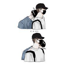 Nct Logo, Korean Nail Art, Nct Doyoung, Cute Korean Boys, Art Story, Couple Illustration, Jaehyun Nct, Kpop Fanart, Fujoshi