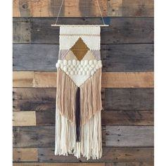 Handmade woven wall hanging by SunWoven on Etsy Weaving Wall Hanging, Weaving Art, Tapestry Weaving, Loom Weaving, Wall Tapestry, Hand Weaving, Wall Hangings, Case Studio, Arts And Crafts
