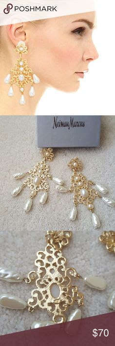 Kenneth Jay Lane chandelier earrings Beautiful earrings, clip ons, signed KJL   Bought at Neiman Marcus and only worn 1 time! Kenneth Jay Lane Jewelry Earrings