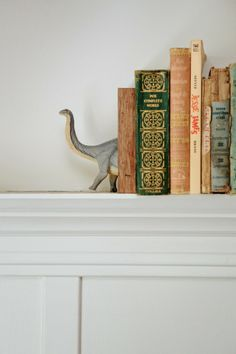 Dinosaur bookends - cute for a kids room!