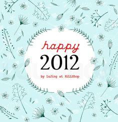 2012年新年卡,做为日历卡的-楼阁