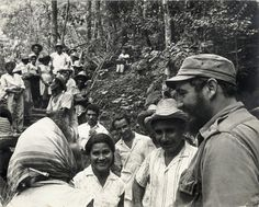 Fidel Castro with revolutionaries: The Cuban Revolution came to power In 1959, which led to more than one million Cubans leaving the island as the Revolution became more radical, with most of them settling in Miami, Florida, a city they transformed.