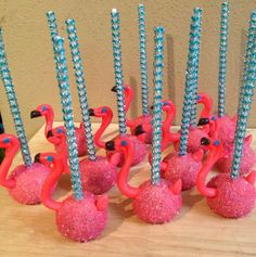flamingo cake pops~Painted and Sprinkled