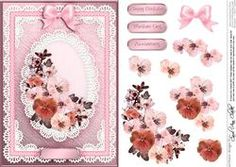 A5 Spring Flowers And Lace Quick Card With 3D Decoupage