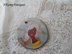 1950's pottery pendant South of France for the by Nkempantiques