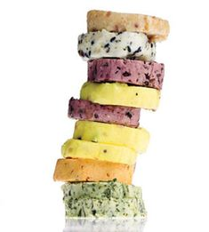 Flavored Butters by bonappetit: How to make butter even better. Recipes from Bacon-Bourbon to Nori Sesame! #Butter