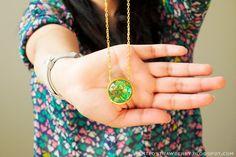 DIY: Easy Pendant Necklace from Bracelet Findings
