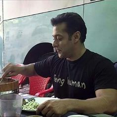 Bhai getting a bite to eat.