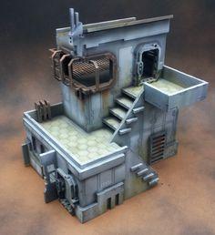 Miniature Scenery : off sale! and stuff. Game Terrain, 40k Terrain, Wargaming Terrain, Warhammer 40k Tabletop, Warhammer Terrain, Steampunk House, Belem, Fantasy Miniatures, Medieval Town