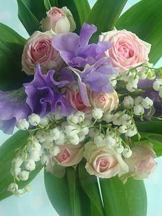 Sot med luktart, rosor och liljekonvalj!