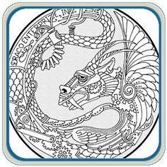 Dragon Medallions Wood Carving & Pyrography Patterns by L. S Irish- Classic Carving Patterns