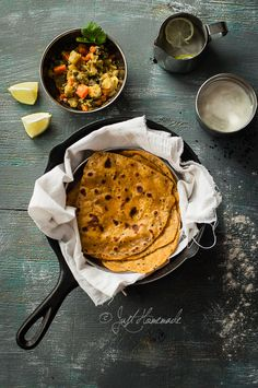 Super soft Roasted Butternut squash paratha speckled with Nigella seeds (Kalonji) -   Just 5 ingredients