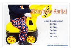 Babyhose Karla/ Karl 50-104 für Windelpopos / Pumphose / Spielhose / Jogginghose