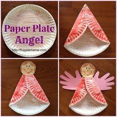 DIY ---) Paper Plate Ángel !!!