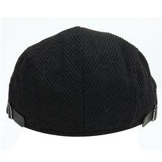 Unisex Woolen Knitted Beret Hat Knitting PU Buckle Adjustable Paper Boy Cabbie Gentleman Cap Knitted Beret, Mens Caps, Men's Accessories, Caps Hats, Gentleman, Beanie, Unisex, Knitting, Paper