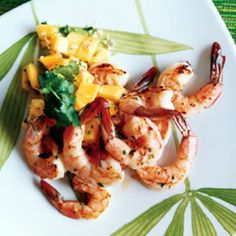 Grilled Brined Shrimp with Mango Salsa - Rachael Ray Every Day
