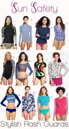 Sun Safety: Stylish Rash Guards