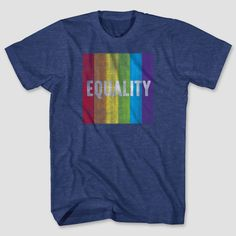 Pride Adult Equality Tee Navy Heather 3XLT, Blue