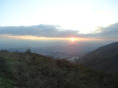 Sunset from Mt. Naranco in Oviedo, Spain!