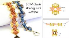 Explore 2-Hole Beads Beading with ZoliDuo. Access Juliet Bracelet by Teresa Morse for free with DIY Jewelry Making Magazine #63.