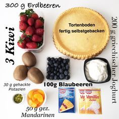 Obstboden mit Frischkäse.. Den Joghurt mit dem Vanillezucker verrühren und auf den Boden streichen.. mit Früchten nach Wahl belegen und mit klaren Tortenguss überziehen