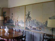"Landscape screen of Zuber antique French wallpaper ""Hindoustan"""
