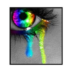 If this was a real eye I'd be more jealous of it than anything before. #want rainbow eyes