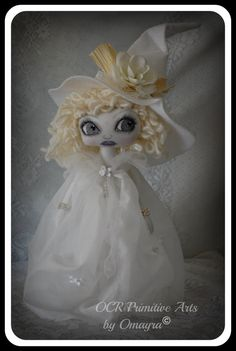 Pearl  Ooak collectible Art Witch Doll by OCRPrimitiveArts on Etsy, $100.00