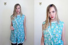vintage 60's new old stock daisy jumper romper MOD by foxandfawns, $18.00