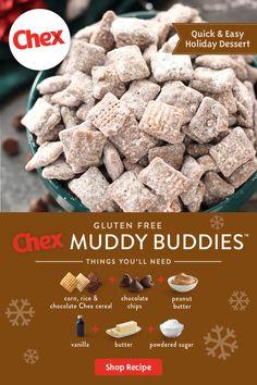 Easy Holiday Recipes, Holiday Desserts, Holiday Baking, Christmas Baking, Holiday Ideas, Chex Mix Recipes, Baking Recipes, Snack Recipes, Dessert Recipes